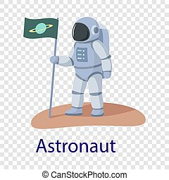 Astronaut icon, flat style