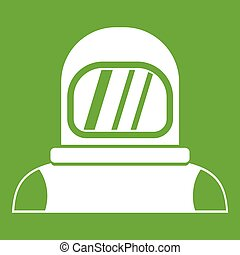 Astronaut icon green