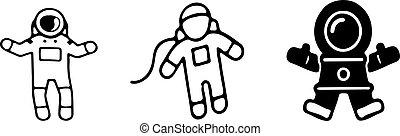 astronaut icon on white background