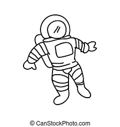 Astronaut icon. Sketch and science design. Vector graphic