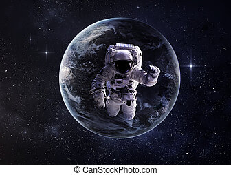 Astronaut in outer space. Elements of this image furnished...