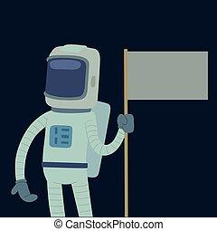 Astronaut in space vector character having fun spaceman galaxy cosmos atmosphere astronautics system fantasy traveler man.