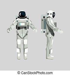 Astronaut isolated on white background.