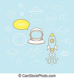 Astronaut line design