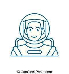 Astronaut linear icon concept. Astronaut line vector sign, symbol, illustration.