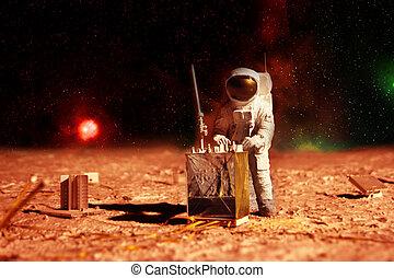 astronaut, mars