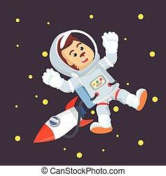 astronaut monkey in space