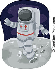 Astronaut Moonwalk