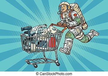 Astronaut on sale of home appliances