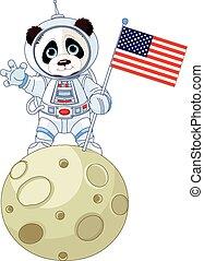 astronaut, panda
