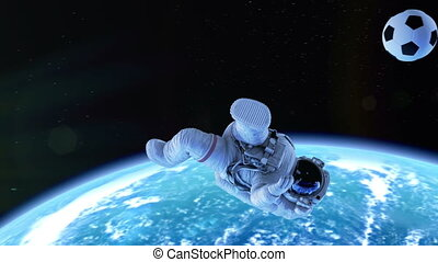 Astronaut Performs Bicycle Kick in Outer Space. Beautiful...