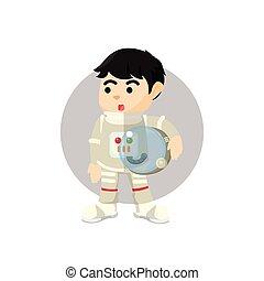 Astronaut pose illustration