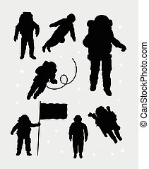 Astronaut silhouettes. Good use for symbol, logo, web icon,...