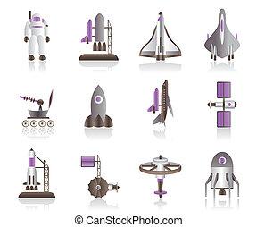 astronaut, skottspolar, utrymme