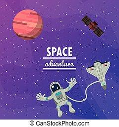 Astronaut space advernture