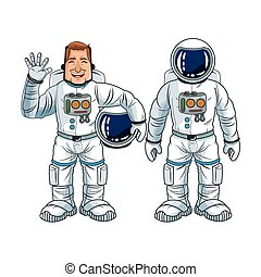 Astronaut space cartoon design