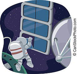 Astronaut Space Work