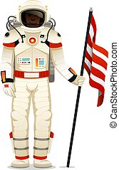 astronaut spaceman. planets in solar system. astronomical galaxy space. cosmonaut explore adventure.
