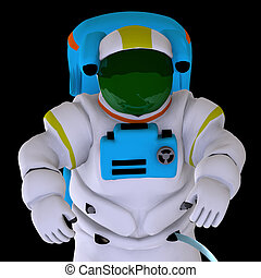 astronaut - rendering of an astronaut with Clipping Path...