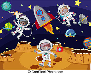 Astronaut travel in the space