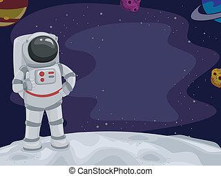 astronaut, tummar uppe