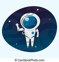 Astronaut vector illustration