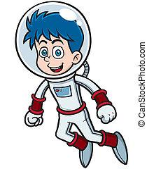 Astronaut - Vector illustration of Cartoon astronaut