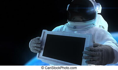 Astronaut with display - Animation of astronaut with the...