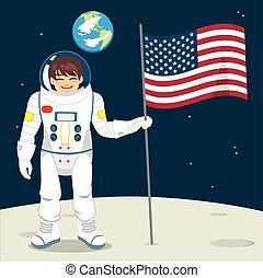 Astronaut With Flag