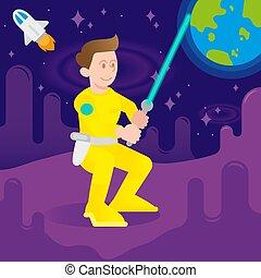 astronauta, lutador