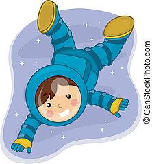 astronauta, niño