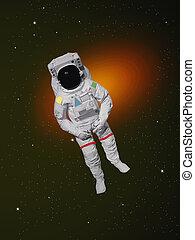 astronauta, przestrzeń