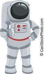 astronauta, pulgares arriba