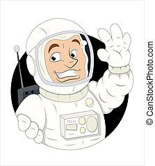 astronauta, rysunek