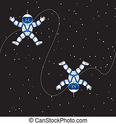 astronauta, seamless, patrón
