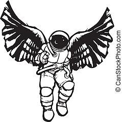 astronaute, ange