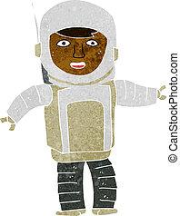 astronaute, dessin animé