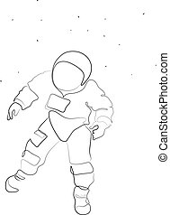 astronaute, dessin