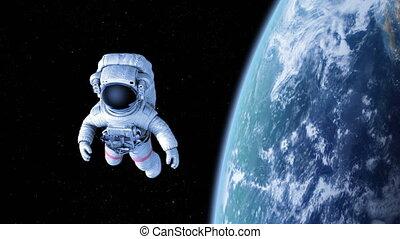 astronaute, espace