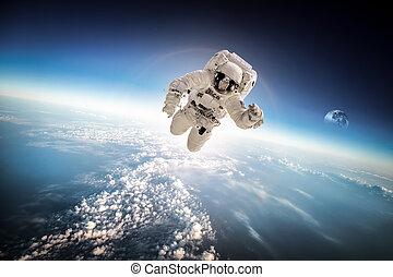 astronaute, espace extérieur