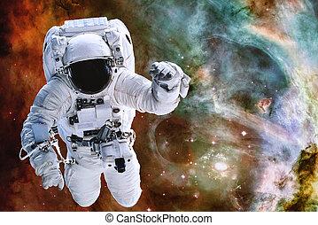 astronaute, la terre, exploser, espace, planète