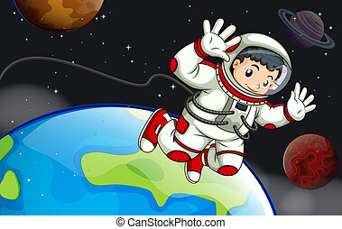 astronaute, outerspace