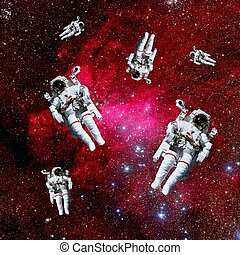 astronauten, galaxie, raum