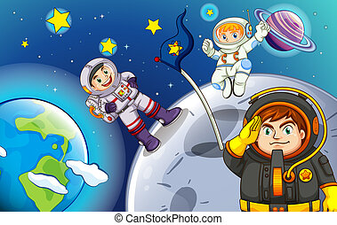 astronautes, outerspace