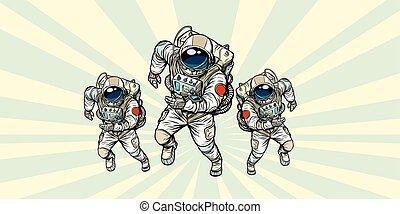 astronauts heroic team