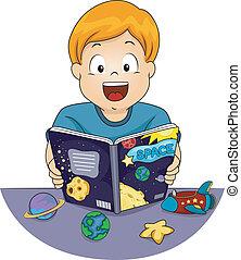 astronomía, niño
