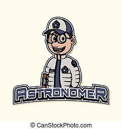 astronomer logo illustration design