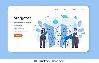 astronomia, pagina del web, atterraggio, o, bandiera, ...