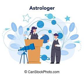 astronomia, professionale, concept., dall'aspetto, ...