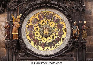 Astronomical Clock - Ancient astronomical Clock in Prague on...